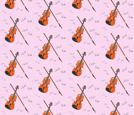 A violin for princess  fabric by ceciliamelzess on Spoonflower - custom fabric
