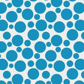 Big Bold Turquoise Dots On Beige