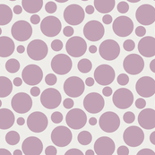 Big Bold Mauve On Beige Dots