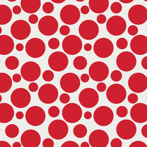 Big Bold Red Dots On Beige