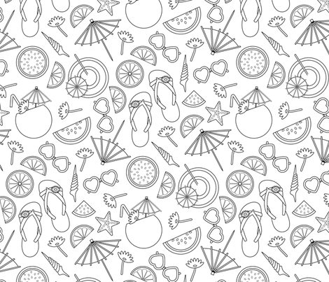 Summer Fruit fabric by tishyaoedit on Spoonflower - custom fabric