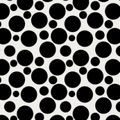 Big Bold Black Dots On Beige