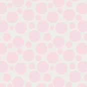 Big Bold Pale Pink Dots On Beige