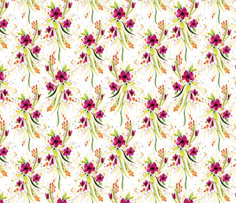15x15_flowers_whitebackground fabric by alexis_johnson on Spoonflower - custom fabric