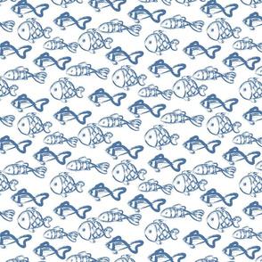 Ocean fish blue paint
