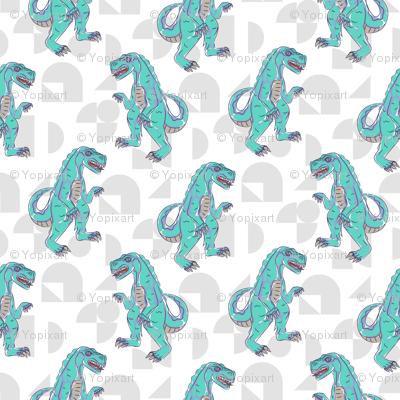 T-rex boyish pattern