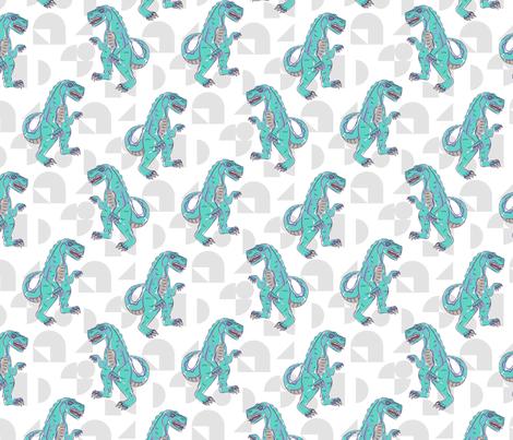 T-rex boyish pattern fabric by yopixart on Spoonflower - custom fabric