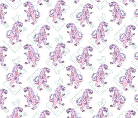 Pink Biscuit Monster fabric by yopixart on Spoonflower - custom fabric