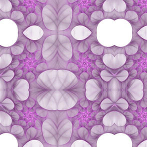 An ultraviolet floral carpet
