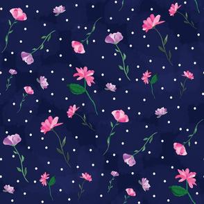 Spring Picnic Dress- Navy
