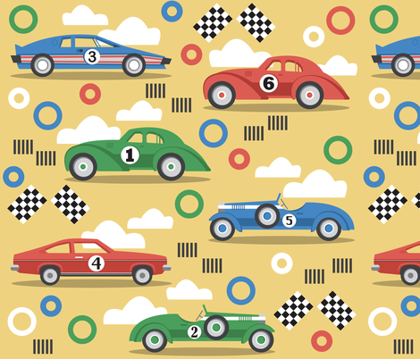 Classic Racers fabric by ruthburrows on Spoonflower - custom fabric