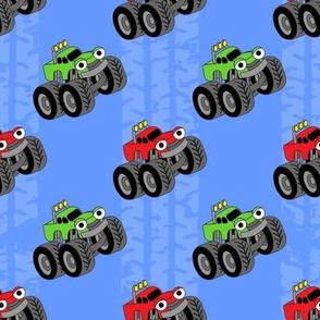 Monster Trucks Blue