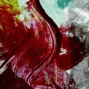 Dark crimson swish print (2)