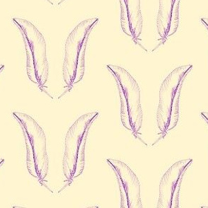 feather_1- lemon/violet