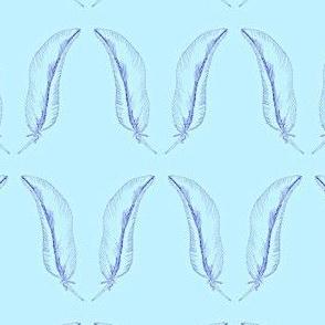 feather_1- aqua/violet-