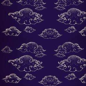 Night clouds-LilacOnDeepBlue