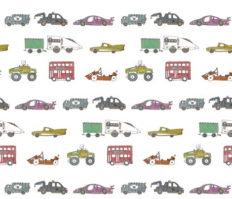 Kids cars fabric by zandloopster on Spoonflower - custom fabric