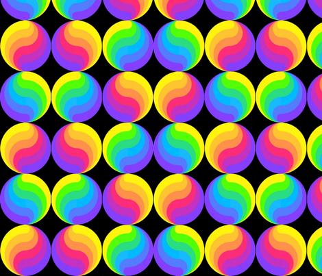 Rainbow Yin & Yang fabric by anneostroff on Spoonflower - custom fabric