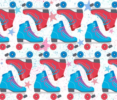 SkatingParty fabric by beckarahn on Spoonflower - custom fabric