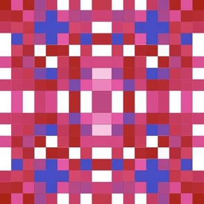 Red White Blue Pink Mosaic