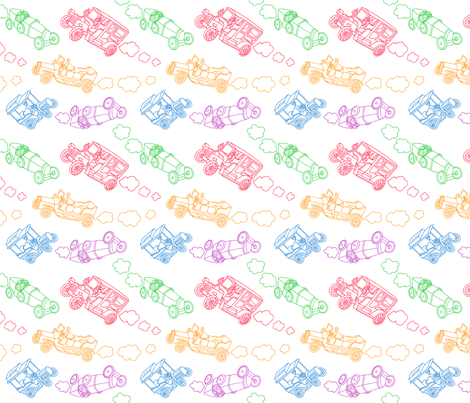 VintageToyCars fabric by alexisseabrook on Spoonflower - custom fabric