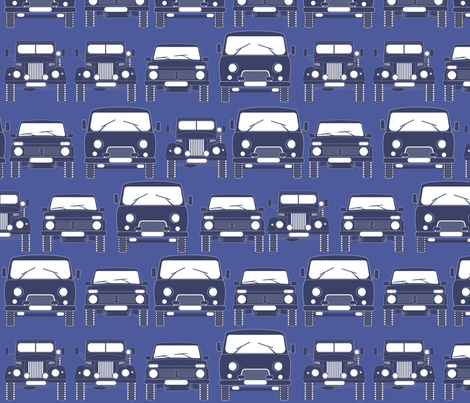 retro Russian cars fabric by minyanna on Spoonflower - custom fabric