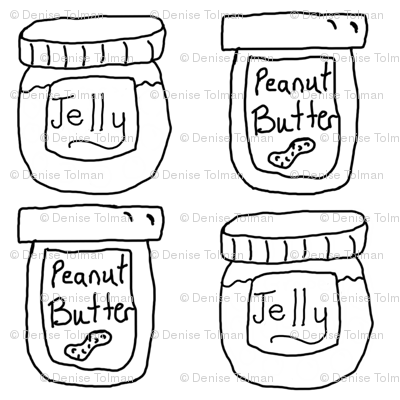 Peanut Butter and Jelly Jars