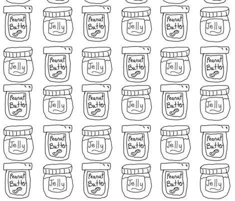 Peanut Butter and Jelly Jars fabric by fabric_is_my_name on Spoonflower - custom fabric