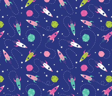 Reach for the Stars fabric by natalee_wegmann on Spoonflower - custom fabric