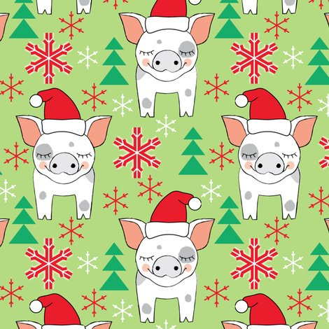 Christmas Pigs.Spotted Christmas Pigs Wallpaper Lilcubby Spoonflower