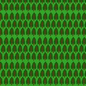 Emerald Forest Tree Stripe