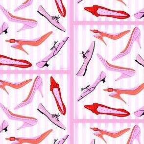 Perfect Parisian Shoes In Pink And Red