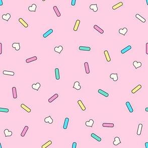 Heart Sprinkles Pink Medium