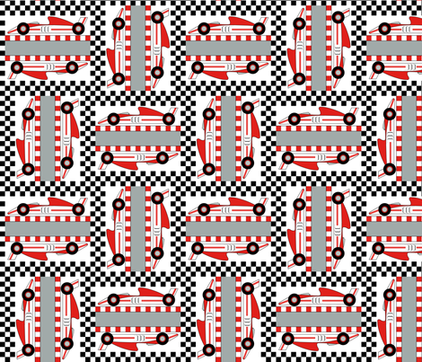 Formula 1 (red) fabric by jjtrends on Spoonflower - custom fabric