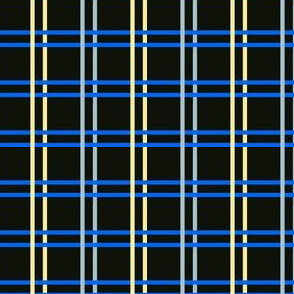 DRM2 - Digital OPen Weave Plaid for Odin's Dream in Dark Olive - Blue - Grey -Pastel Yellow