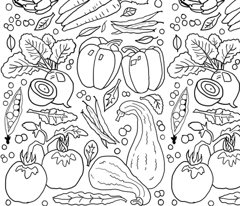 Eat those veggies fabric by leroyj on Spoonflower - custom fabric
