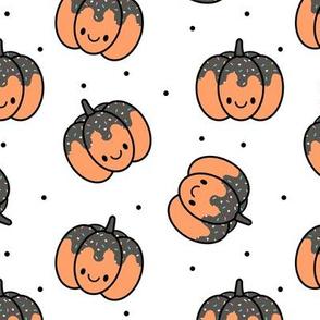 Pumpkin Sprinkles White with  Black Dots Medium