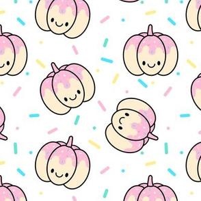 Pumpkin Pink Sprinkles on White Medium