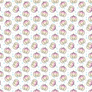 Pumpkin Pink Sprinkles on White Extra Small