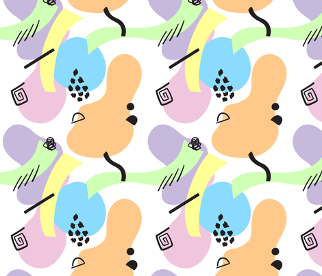 Abstract Pastel Shapes Lined fabric by bambi_illustrates on Spoonflower - custom fabric