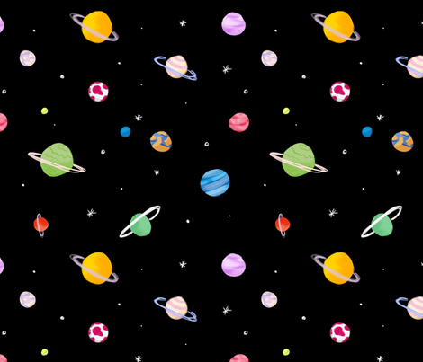 Space Princess fabric by allhaildesign on Spoonflower - custom fabric