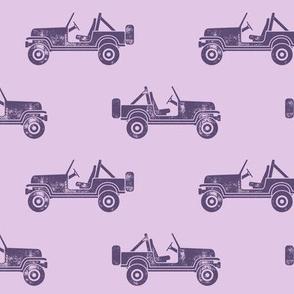 jeeps - purple on purple