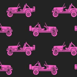 jeeps - pink on grey