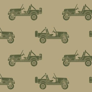 jeeps - green on tan