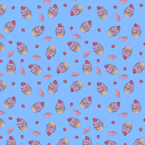 Strawberry Chocolate Cupcakes, Blue