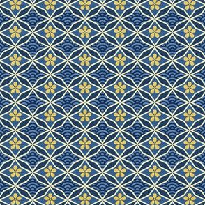 Asian Traditional Inspired in Blue and Gold