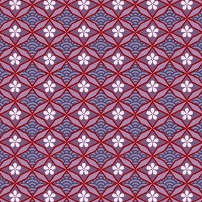 Asian Traditional Inspired in Violet Red and Pink