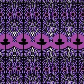 Keyhole and Groove - Purple Black