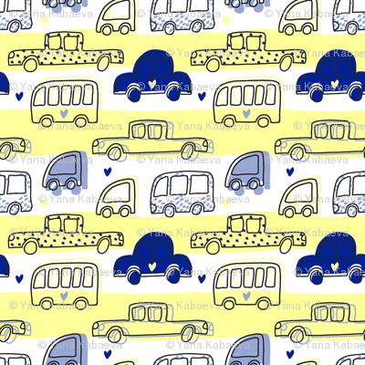 Four Wheels Cute Pattern