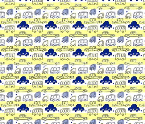 Four Wheels Cute Pattern fabric by yashroom on Spoonflower - custom fabric